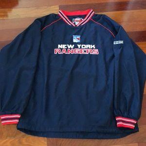 Men's New York Rangers pullover. Size L.